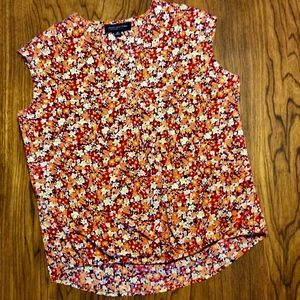 Floral Print Blouse Cross Body Front